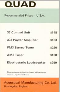 Quad Pricing 1974