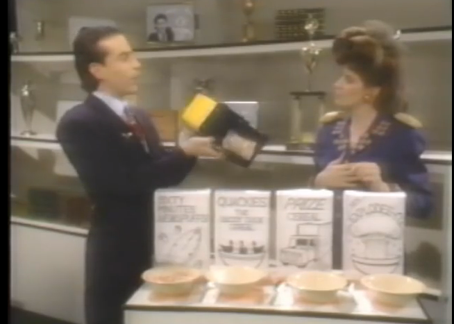 These cereal boxes are the worst designed props in the short.