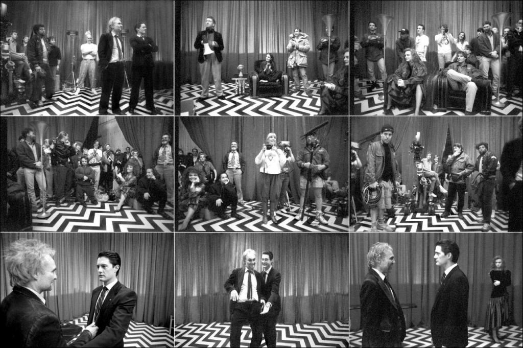 Behind the scenes in the Black Lodge.