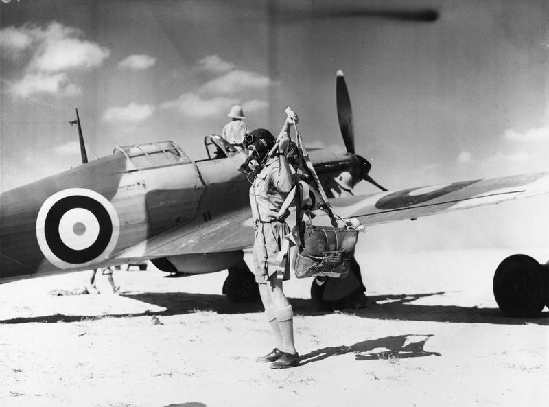 Flying Officer Woodward of 33 Squadron RAF Egypt WWII IWM ME(RAF) 167