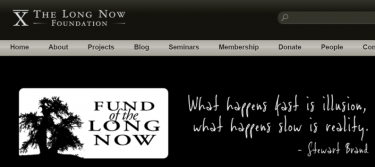 Long Now Foundation Website
