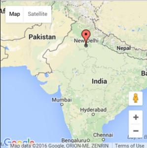 Map Pin New Delhi
