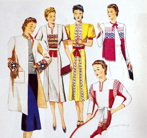 Soviet Fashions 1930's